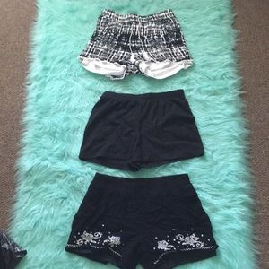 Three Pairs Of Girl's Shorts